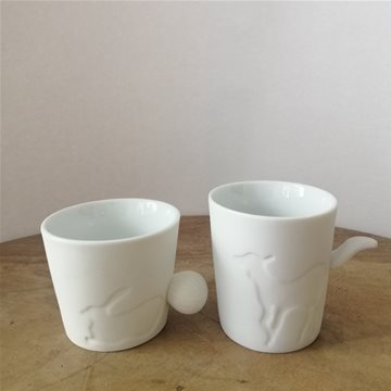 rabbit & deer mugs / tealight holders