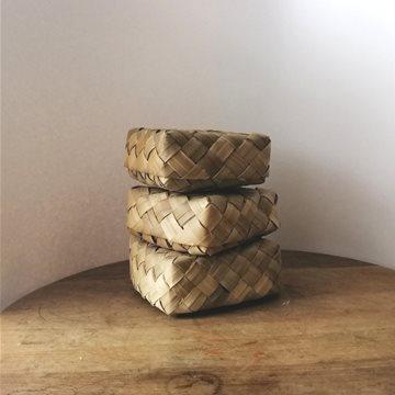 SALE flax basket