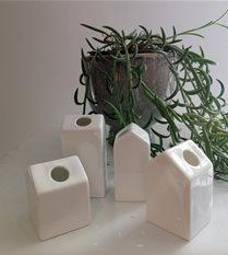 small ceramic house vases  set of 4