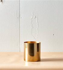 medium brass planter / vase