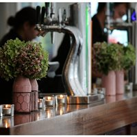 Even the bar can look pretty for wedding receptions! :)