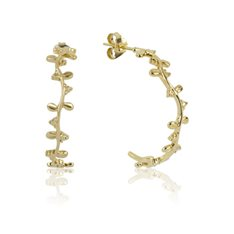 Eternity Vine Hoops (Strength) Gold