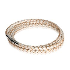 Pearl Triple Twist Leather Bracelet