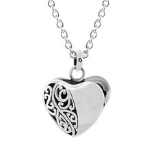 Koru Heart Locket with Chain