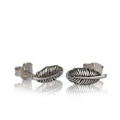 Huia Feather Stud Earrings