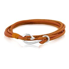 Safe Travel Wrap Bracelet Burnt Orange