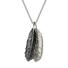 Huia Feather Duo Pendant