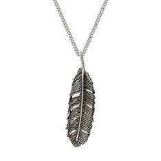 Huia Feather Single Pendant (oxidised)