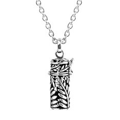 Silver Fern Locket with Chain
