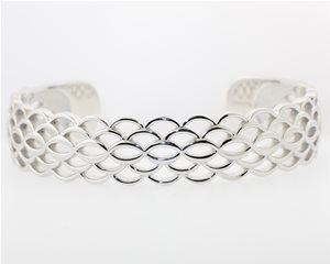Silver ginkgo bracelet