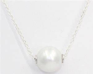 Single white pearl