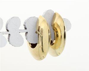 Gold disc huggies