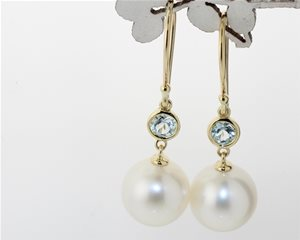 Pearl and blue topaz