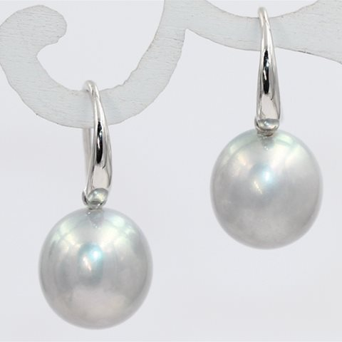Round silver pearls