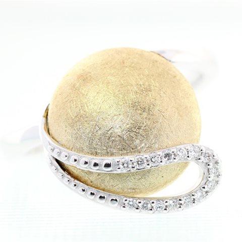 Disc Diamond Ring