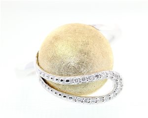 Disc Diamond Ring