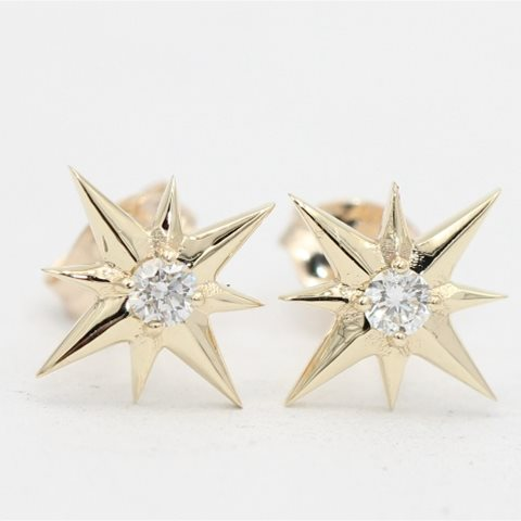 Diamond star studs