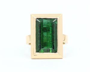 Rectangular green tourmaline