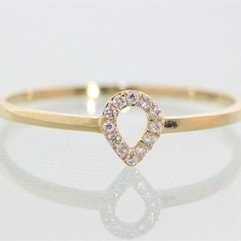 Petite halo pear ring