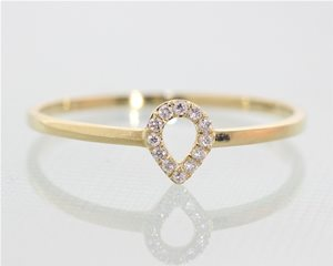Petite halo pear ring