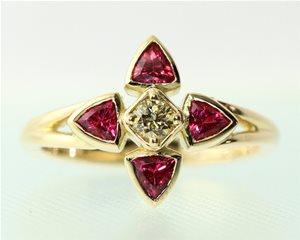 Red spinel trillan