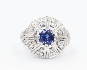 Sapphire deco dome