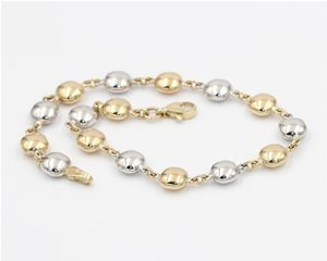 White and yellow cushion bracelet
