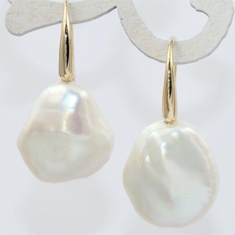 White baroque pearls
