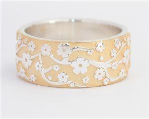 Silver gilt blossom