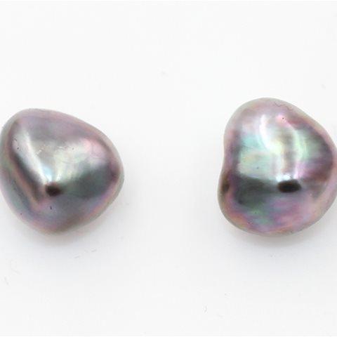 Black Keshi pearls