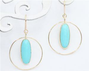 Turquoise ovals