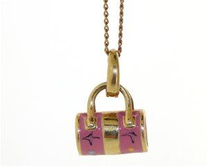 Pink Enamel Handbag