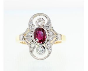 Ruby Art deco