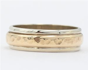 Hammered two tone band