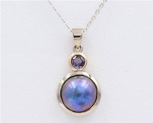 Paua and Purple Sapphire
