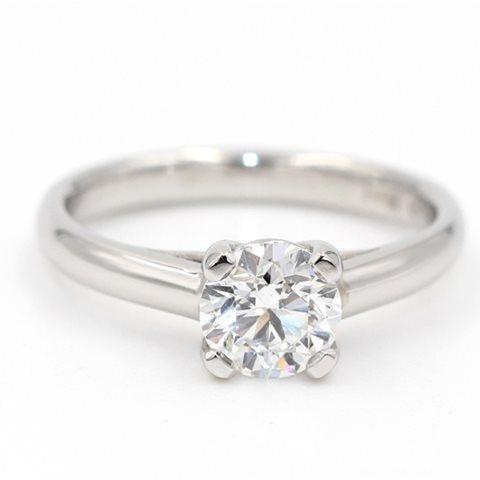 Solitaire diamond lucida ring