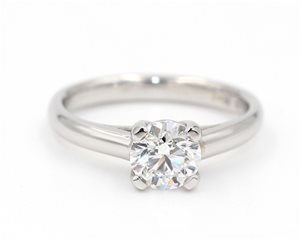 Solitaire diamond lucida ring