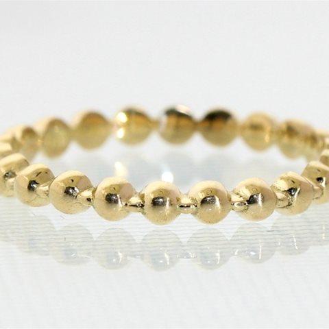 Yellow gold bead ring