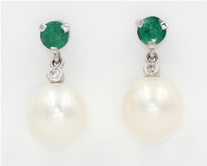 Emerald and pearl