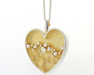 Silver and Gold Hearts