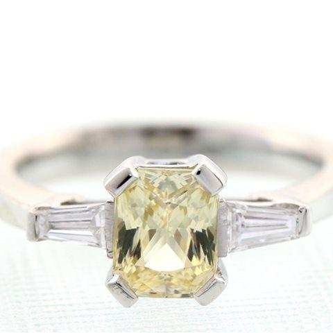 Yellow Sapphire three stone