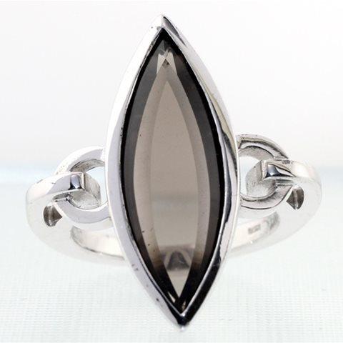 Smokey Quartz Marquise Ring