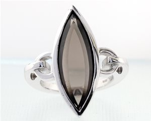 Smokey Quartz Marquise Ring