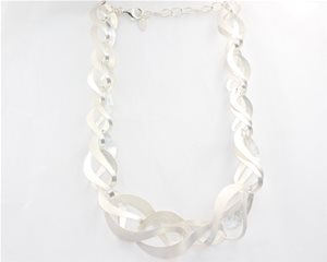 Twisted silver ribbon