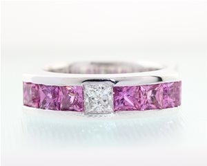 Princess Cut Pink Sapphires
