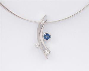 Sapphire white crescent