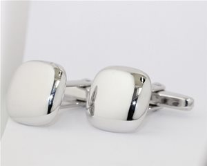 Square domed cufflinks