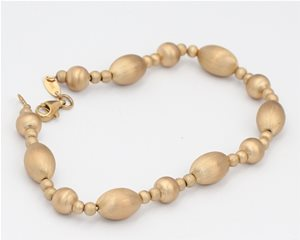 Yellow gold satin bracelet