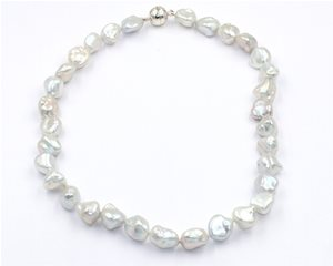 White baroque pearls
