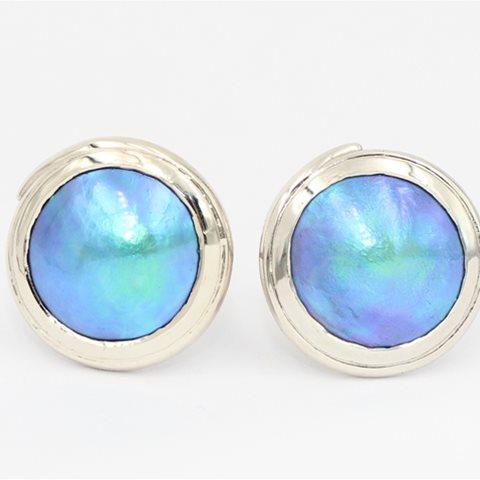 Blue paua pearls